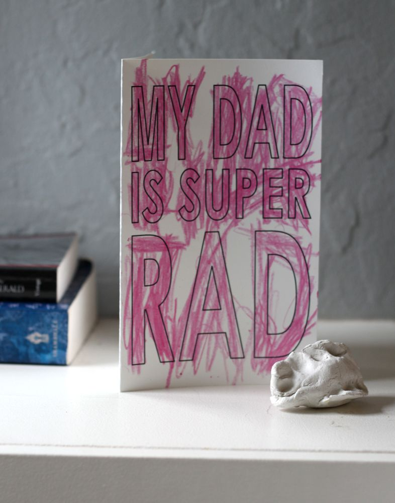 rad dad printable fathers day card