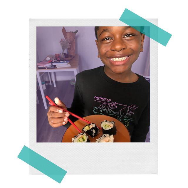 miles with raddish kids sushi meal kit