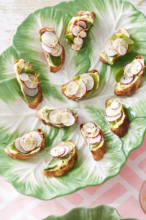 sliced radish toast