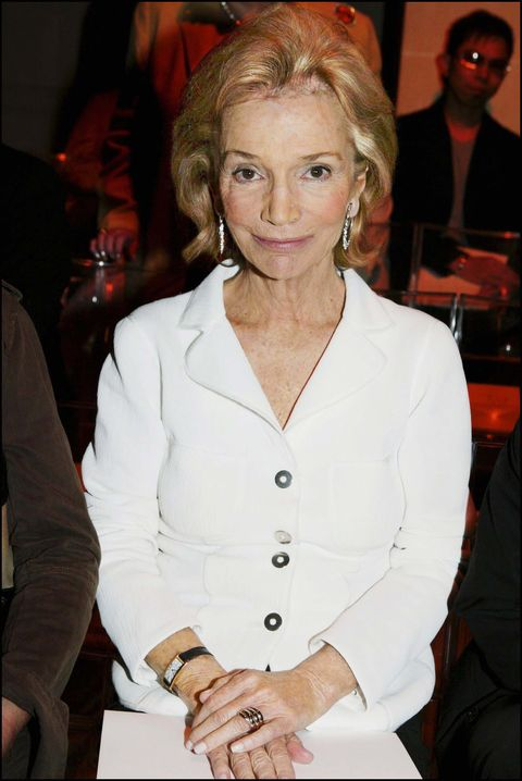 Lee Radziwill At The Ralph Rucci Fashion Show Hc Fall Winter 2004 2005 On July 5, 2004 In Paris, France