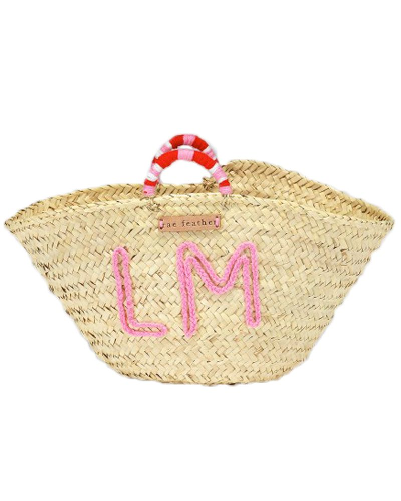rae feather basket bag