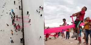 Balancines en la frontera entre Estados Unidos y México