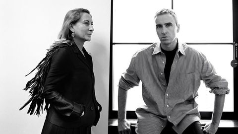 Raf Simons en Miuccia Prada