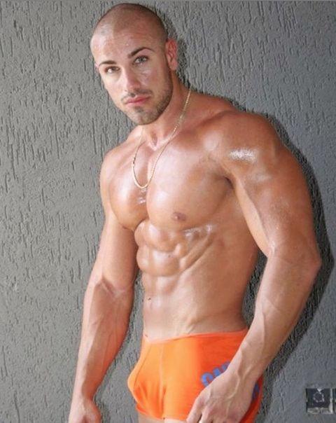 Barechested, Bodybuilder, Muscle, Bodybuilding, Abdomen, Chest, Stomach, Arm, Undergarment, Briefs,