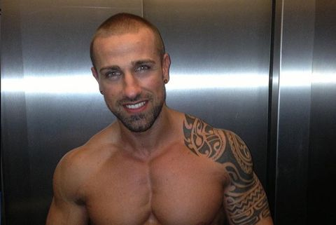 Barechested, Bodybuilder, Bodybuilding, Muscle, Fitness professional, Chest, Arm, Abdomen, Physical fitness, Chin,