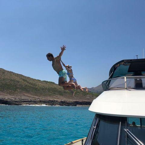 Jumping, Vacation, Sky, Fun, Tourism, Summer, Leisure, Recreation, Terrain, Flip (acrobatic),