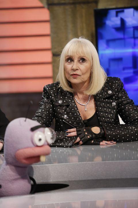raffaella carra attends 'el hormiguero' tv show