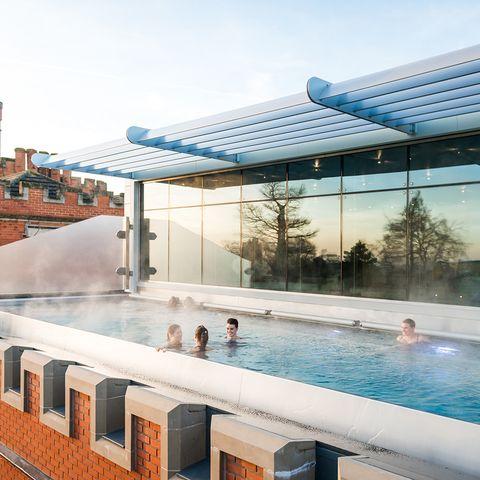 Ragdale Hall's rooftop pool