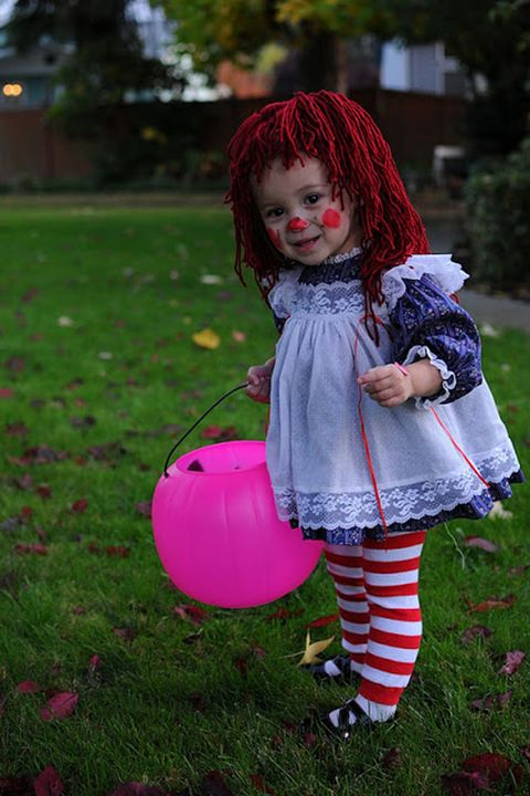 raggedy ann doll homemade halloween costume