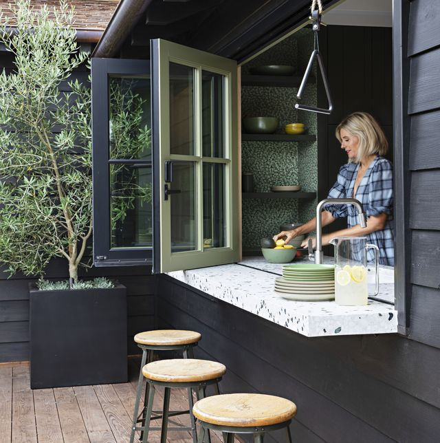 modern pass through kitchen window