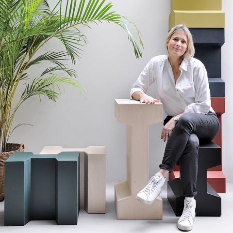 Portrait of Gwendoline Porte with her modular Rails collection