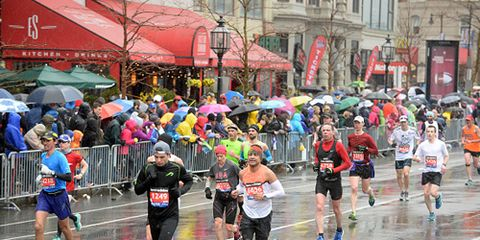 Rain at Boston Marathon
