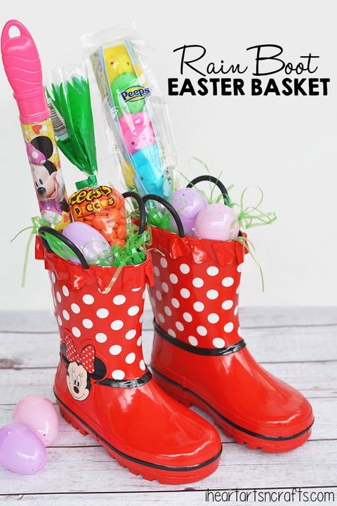 rainboot easter basket
