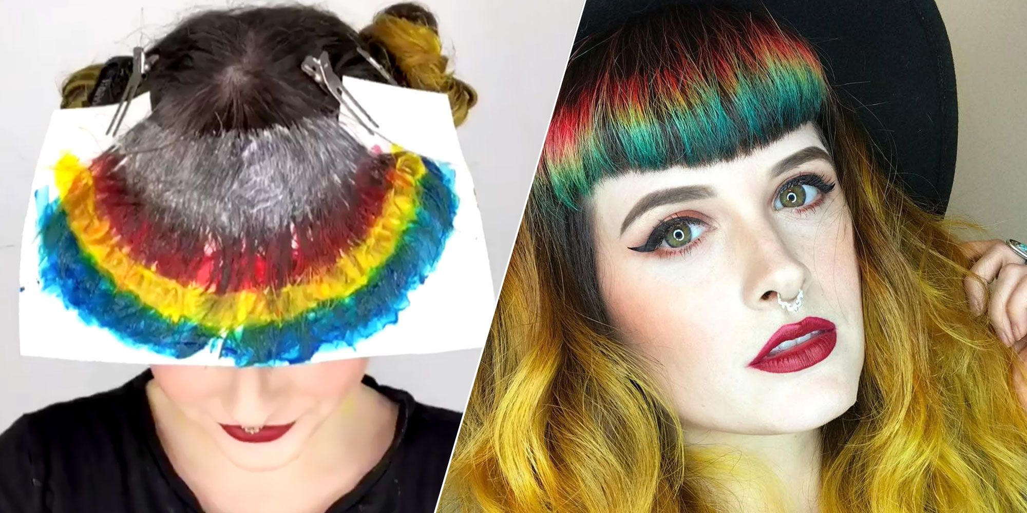 This Woman S Rainbow Bangs Are Mesmerizing How To Get Rainbow Bangs