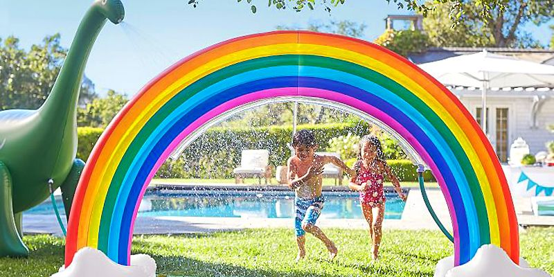 This Rainbow Inflatable Sprinkler Is Bringing The Summer