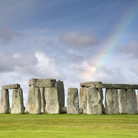 Rainbow over Stonehenge, Salisbury Plain