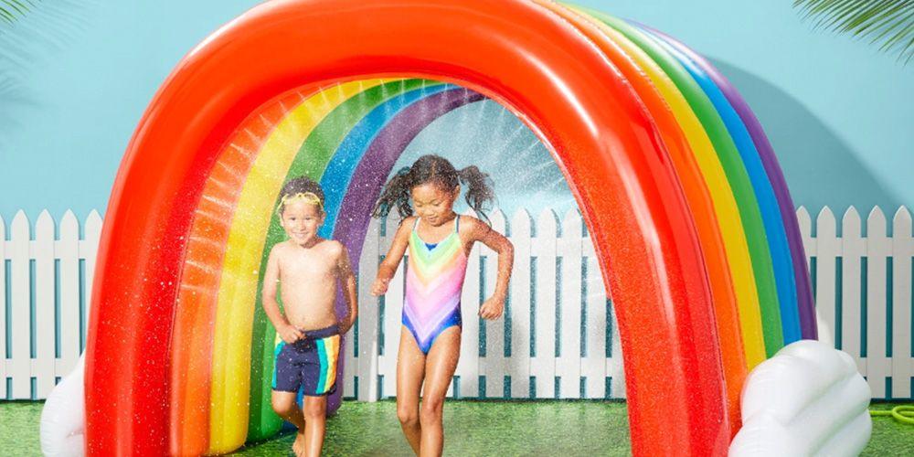This Huge Rainbow Tunnel Sprinkler Will Keep Kids