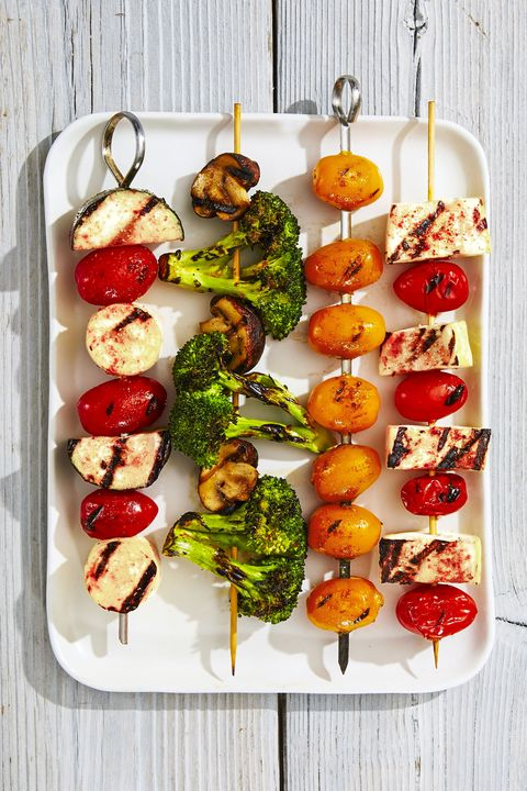 Rainbow Veggie Kabobs - Memorial Day Side Dishes