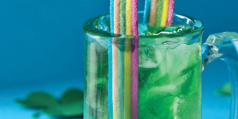 Green, Water, Blue, Drinking straw, Liquid, Glass, Water bottle,