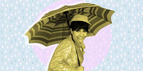 Umbrella, Fashion accessory, Illustration, Headgear, Outerwear, Hat,