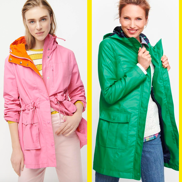 Best Waterproof Rain Jackets For Women, Pink Plastic Trench Coat