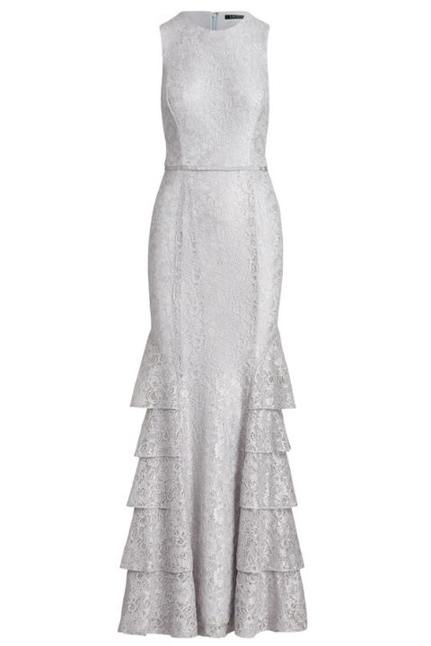 silver bridesmaid dress