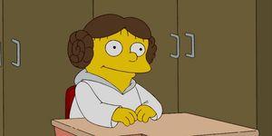 Los Simpson Princesa Leia