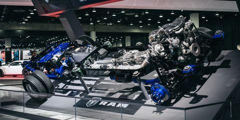 Auto show, Vehicle, Automotive design, Car, Engine, Auto part, Technology, Exhibition, City car, Machine,