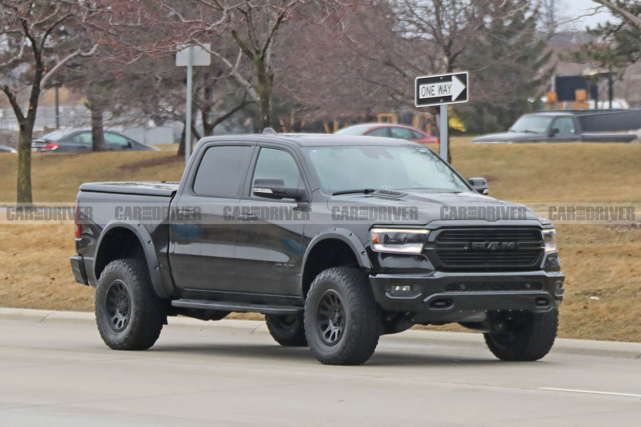 Ram Rebel Trx Pickup Spy Photos With A Supercharged Hellcat V 8