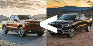 Ram vs. Silverado sales
