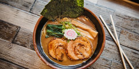 Dish, Food, Cuisine, Ingredient, Comfort food, Ramen, Produce, Japanese cuisine, Soba, Meat,