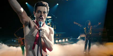 "Rami Malek en ""Bohemian Rhapsody"""