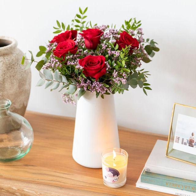 ramo de rosas rojas sanvalentín rosas