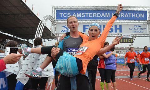 Liep jij in 2018 een marathon en je partner ook?
