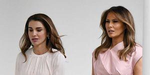 Rania de Jordania y Melania Trump en la Casa Blanca