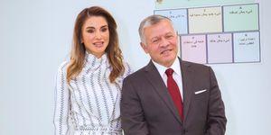Rania de Jordania junto a su esposo, el rey Abdalá II