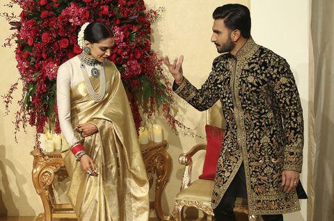 Ranveer Singh y Deepika Padukone, una boda al más puro ...