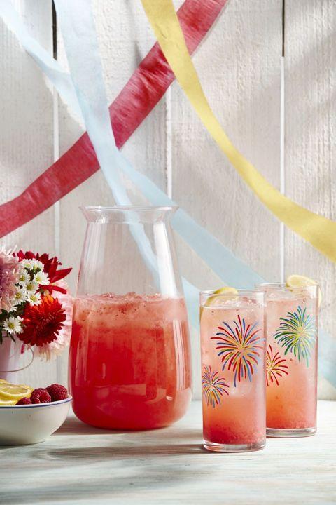 raspberry and lemon rose sparkler