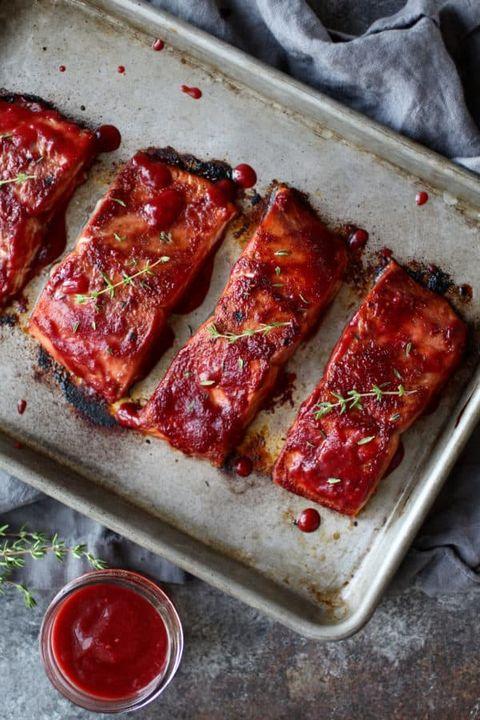 raspberry balsamic glazed salmon recipe