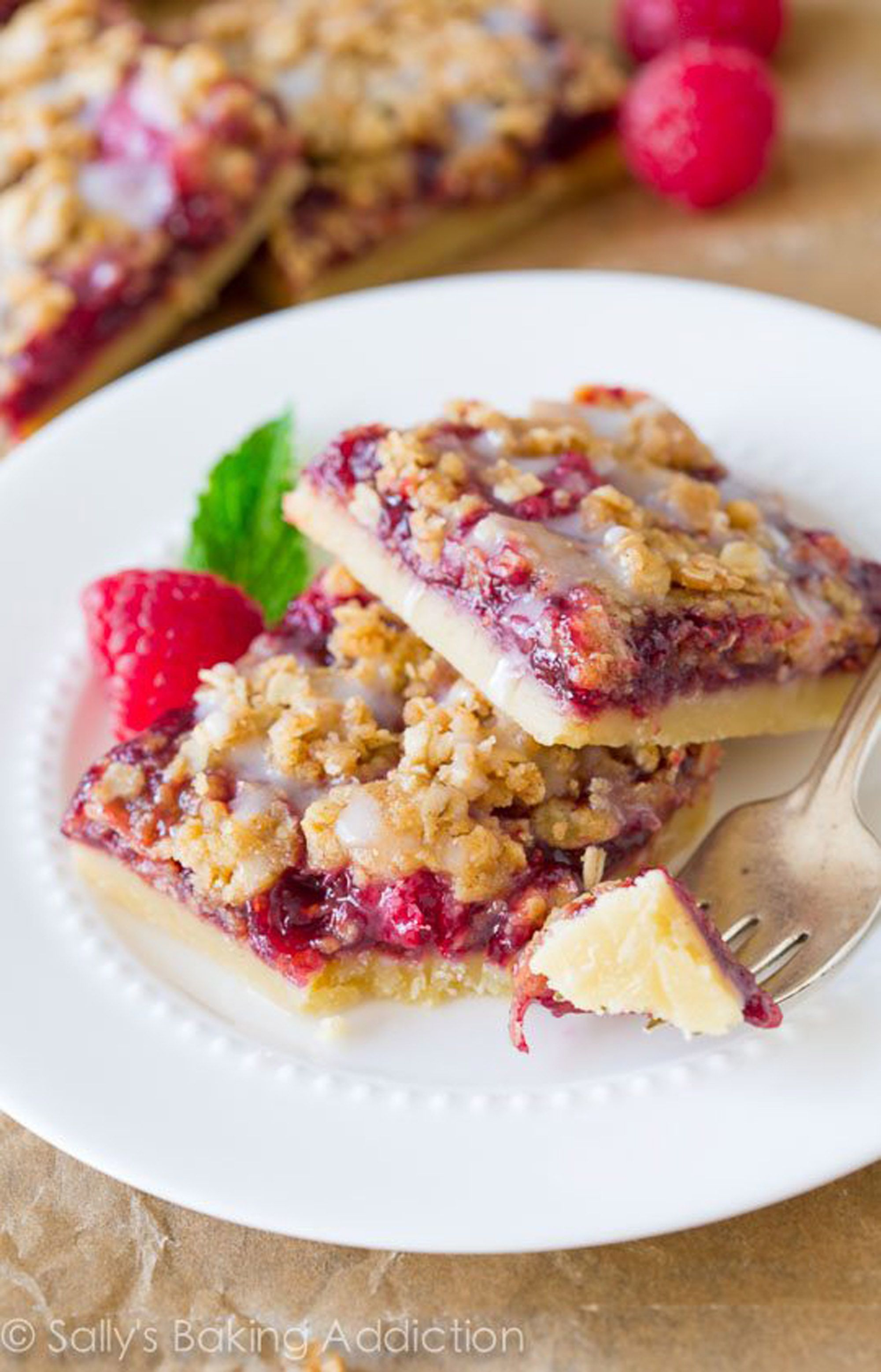 raspberry recipes streusel bars