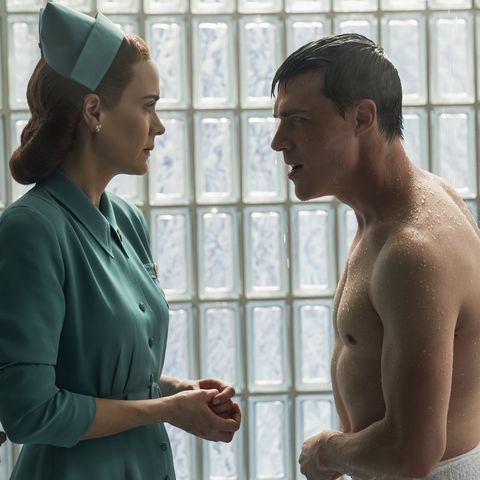 ratched l to r sarah paulson as mildred ratched and finn wittrock as edmund tolleson in episode 103 of ratched cr saeed adyaninetflix © 2020