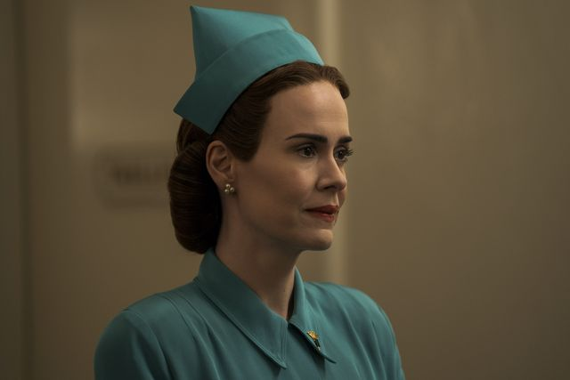 ratched l to r sarah paulson as mildred ratched in episode 107 of ratched cr saeed adyaninetflix © 2020
