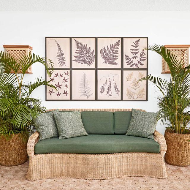rattan sofa english island veranda