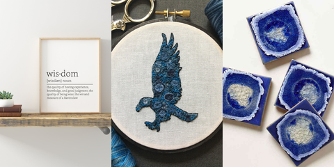 Blue, Blue and white porcelain, Denim, Porcelain, Seahorse, Textile, Plate, Embroidery, Stitch, Needlework,