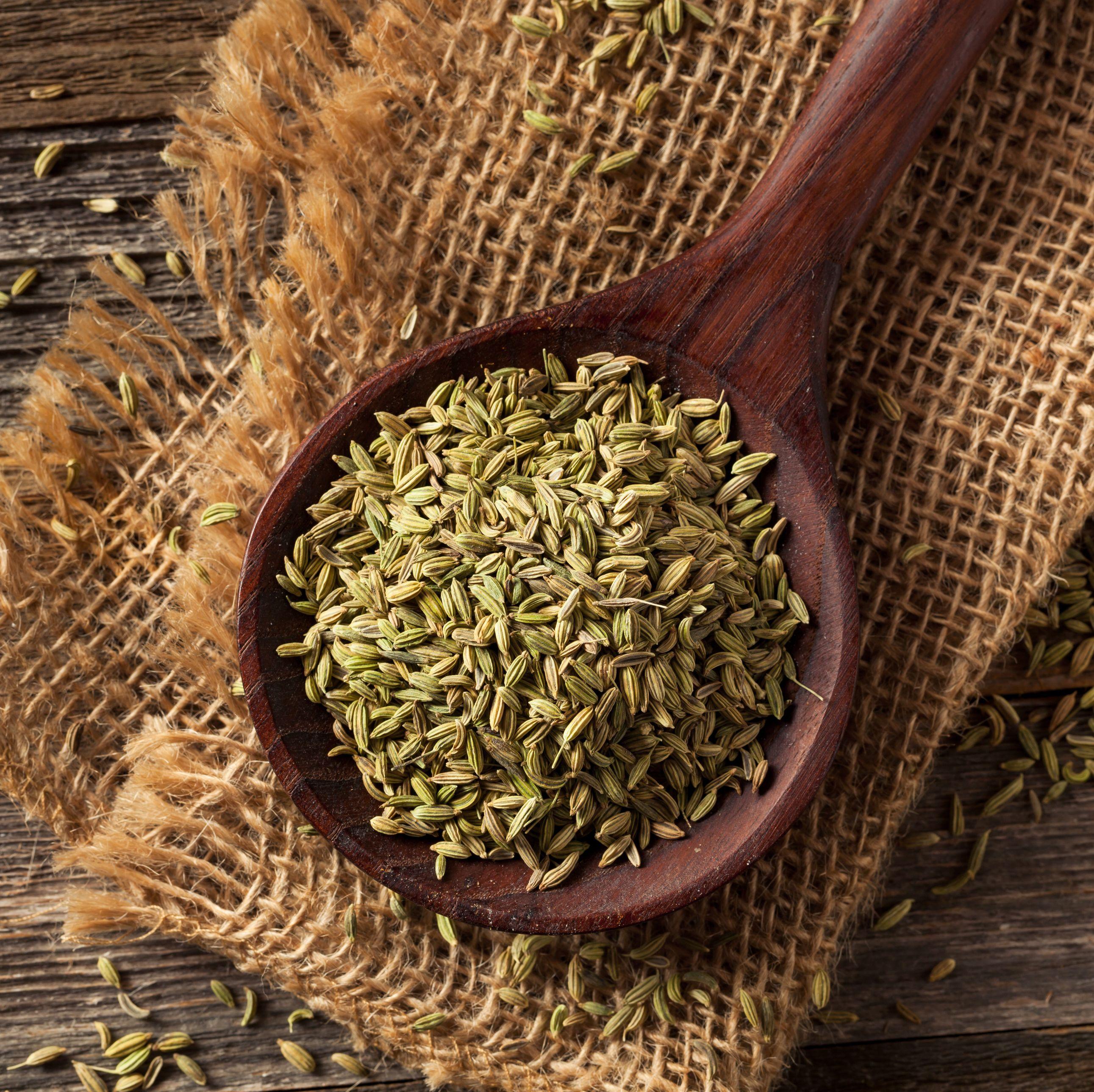 raw organic fennel Seed