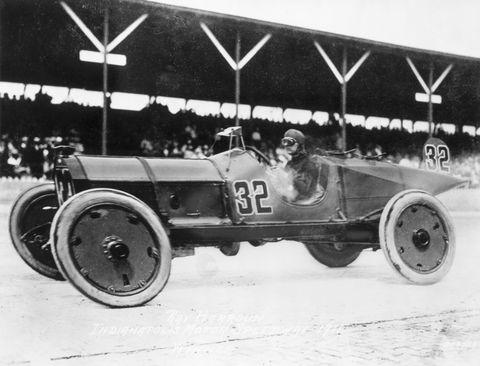 racer winning first indy speedway race