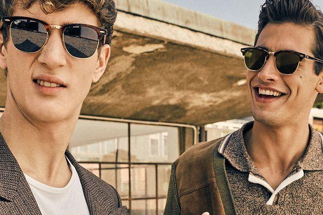 rayban clubmaster men's sunglasses