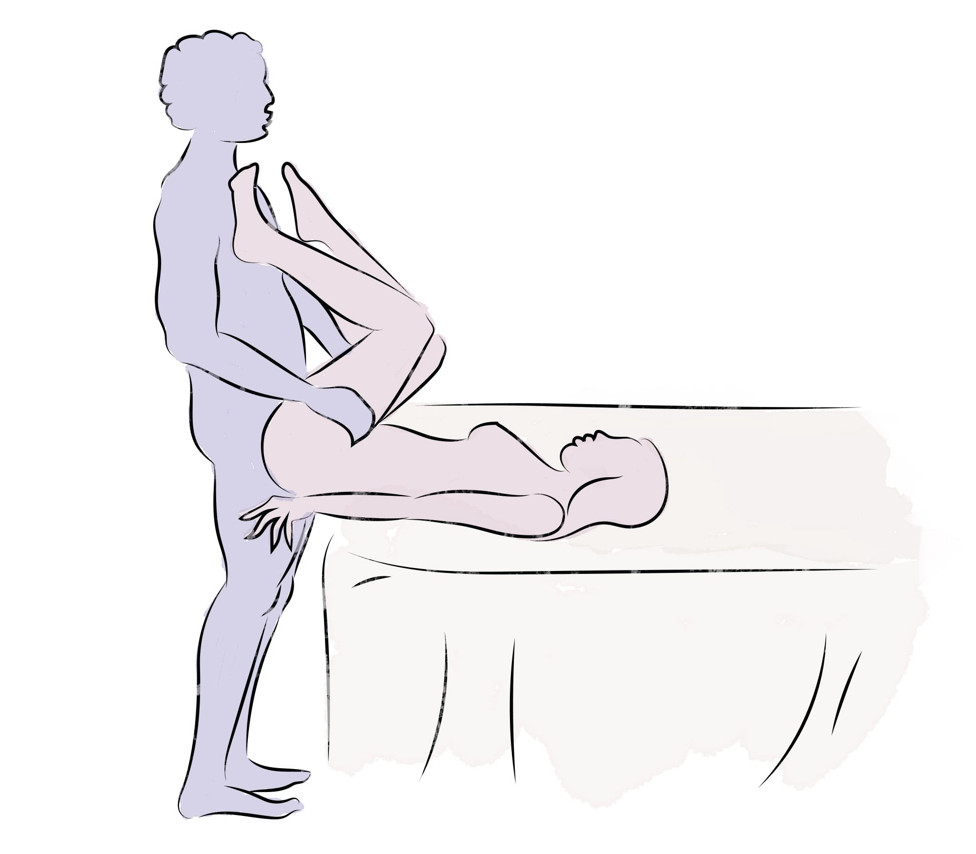 Knees to chest sex position