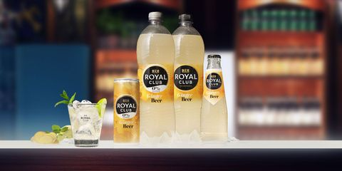 ginger beer van royal club op een bar