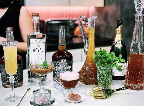 Drink, Alcohol, Distilled beverage, Alcoholic beverage, Liqueur, Glass bottle, Bottle, Champagne, Beer, Champagne stemware,